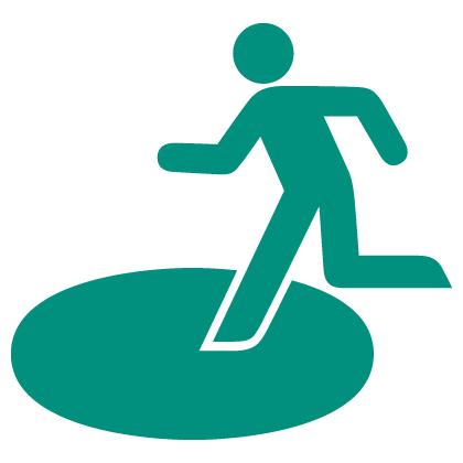 Designated urgent evacuation site icon