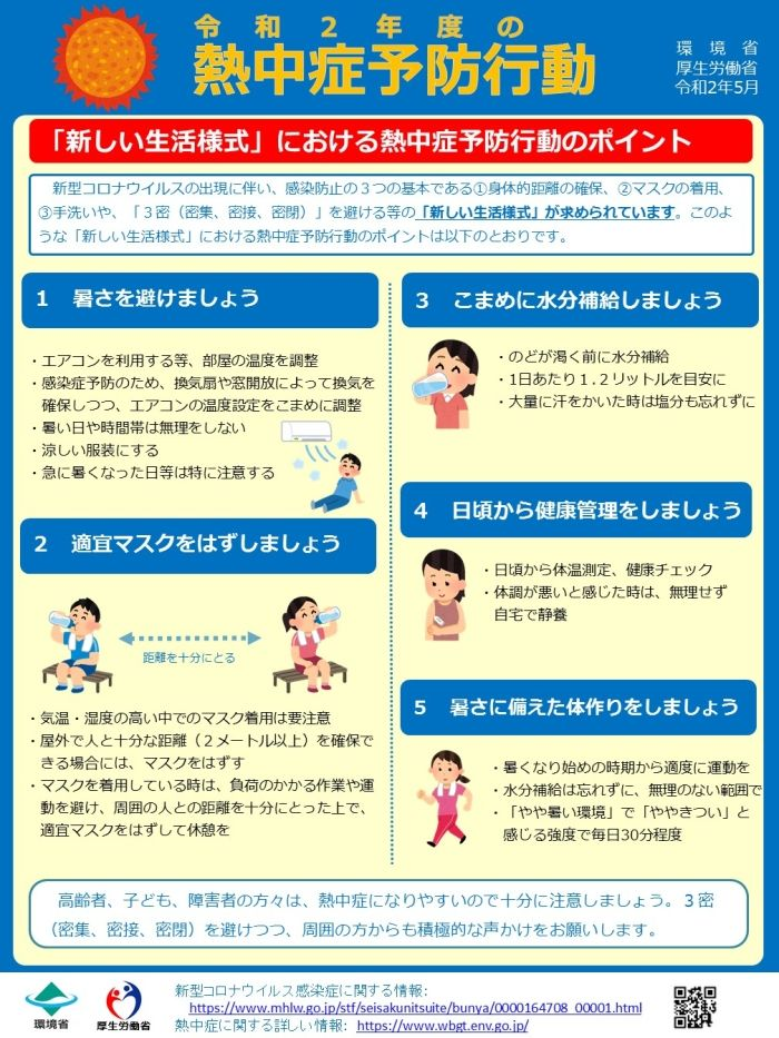 Point of the heat stroke prevention